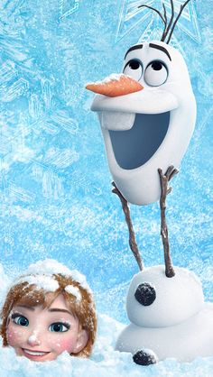 Disney's Frozen Anna and Olaf