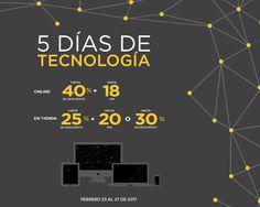 Aprovecha 5 Días de Tecnología en El Palacio de Hierro con descuentos y promociones increíbles en Cómputo, Telefonía, Línea Blanca, Fotografía, Sonido y TV