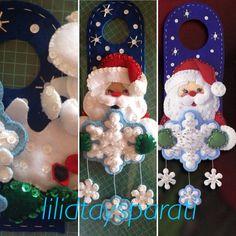 Picaporte en fieltro, chaquira, lentejuela y canutillo Santa