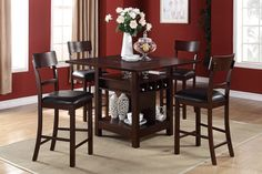 bar height table and chairs | Counter Height Dining Table & Chairs - Orange County Furniture ...