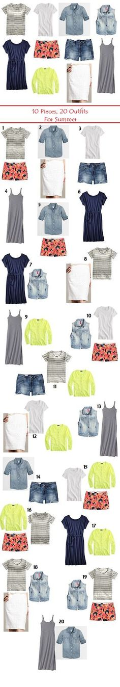 I love the short sleeve chambray shirt and a cute pair of patterned shorts... not it those colors though. More blues/aquas