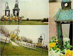 vintage lantern wedding ceremony decor
