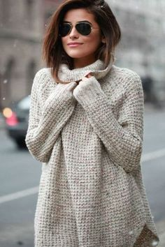 Oversized Speckled Luxe Knit Cowl Neck Sweater - 3 Colors - ShopLuckyDuck  - 1