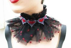 The Accessory Finder: Queen of Hearts Victorian Clown Collar by satanica on Etsy