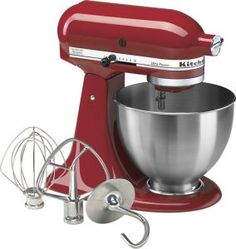 KitchenAid Ultra Power Stand Mixer: Get your checkbook out because this is one expensive stand mixer that has all the features a baker could need. The mixer is powerful, handy and comes with a mixing bowl that's able to hold 4 quarts, making this a must-have mixer for kneading pizza dough, mixing cakes or any other heavy duty shift.