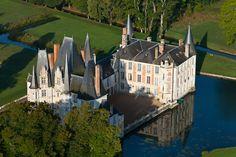 Château d'Ô, vue aérienne #Orne #PureNormandie