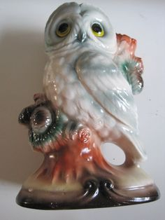 VINTAGE Owl Figurine PERFECT CONDITION by puddinhearttreasures, $20.00