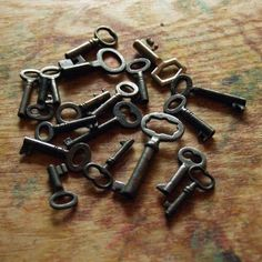 Five Tiny Skeleton Keys - Custom