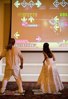 Top 15 Unique and Amazing Wedding Ideas For Your Big Day funny and uniqe video game wedding ideas, geek wedding ideas, DDR