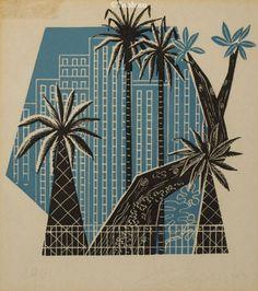 Walter Lewy. Xilogravura (1961). 18x16 cm