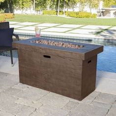 Purchase Crawford Outdoor Rectangular Gas Burning Fire Pit - BTU from GDFStudio on OpenSky. Entertainment Weekly, Entertainment System, Propane Fire Pit Table, Fire Table, Propane Fireplace, Fireplace Heater, Concrete Fire Pits, Wood Burning Fire Pit, Corner Tv