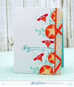 Joy Comes Card by Betsy Veldman for Papertrey Ink (July 2015)