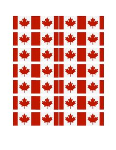 Printable Canadian Flag template for SWAPS