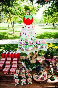 Kara's Party Ideas Strawberry Picnic + Shortcake 5th Birthday Party - Kara's Party Ideas - The Place for All Things Party
