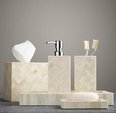 Bone Accessories Collection ---> wanna have these in my bathroom