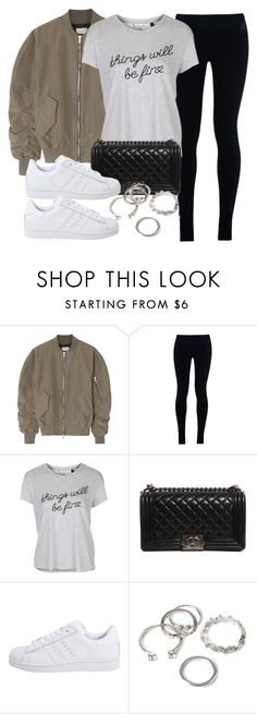 """""""Style #11649"""" by vany-alvarado ❤ liked on Polyvore featuring Fear of God, NIKE, Topshop, Chanel, adidas Originals and Forever 21"""