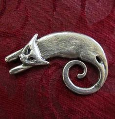 Cat Brooch / Cat Pin Cast In Pewter From An By ArtSoulCreations