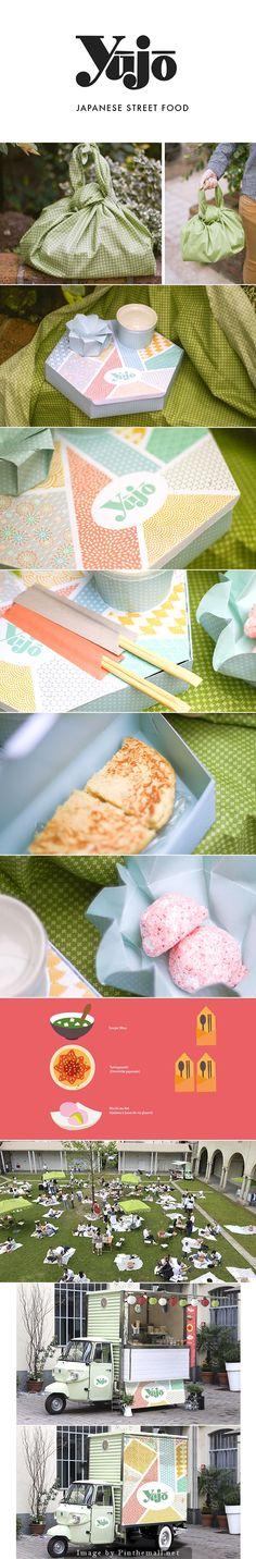 Yûjô yummy Japanese street food #identity #packaging #branding curated by Packaging Diva PD created via https://www.behance.net/gallery/19179589/Yujo