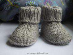 Child Knitting Patterns Child Slippers Baby Knitting Patterns Supply : Baby-Hausschuhe... by gerdgratz