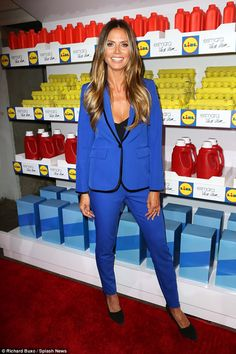 Project runway: Heidi Klum debuted her new collaboration, Esmara By Heidi Klum, with German supermarket chain Lidl at New York Fashion Week on Thursday