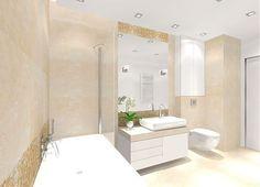 Jasna, nowoczesna łazienka.