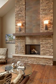 Интерьер гостиной с камином: осовремененные варианты дизайна на фото