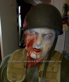 Zombie Soldier Makeup and Costume | Halloween costume contest ...
