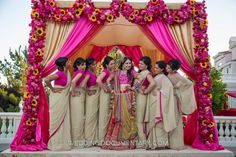 Indian Bridesmaid Saris..For all those brides-to-be who are looking for inspirations for their bridesmaid's saris..this one is for you! View the complete post at http://pinkonnet.com/blog