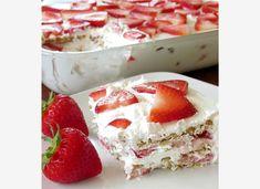Λαχταριστό γλυκό ψυγείου με φράουλες