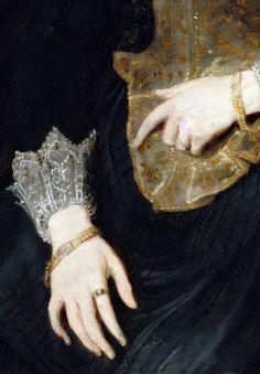 Portrait of a Lady, Detail.  by Sir Anthony Van Dyck (1599-1641)