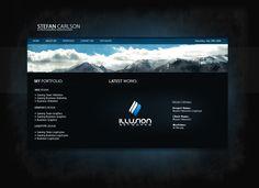 Personal Portfolio Website v2 by zblowfish.deviantart.com on @deviantART