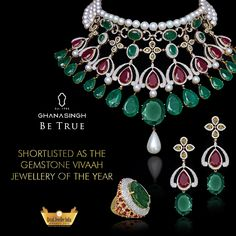 Our ethnic piece of art was shortlisted in the Gemstone Vivaah Jewellery of the Year category in the Retail Jeweller India Awards, '15