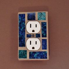 Single Outlet  Stacked Toggle Switch Plate  by JudyEvansCollection, $18.00