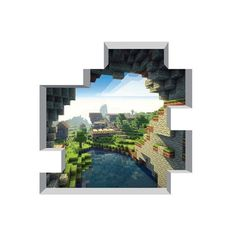 "Huge Minecraft Cave Entrance Mural 56"" x 56"""
