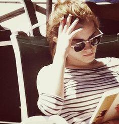 "Emma Watson reading ""The Alchemist"" by the Brazilian author Paulo Coelho"