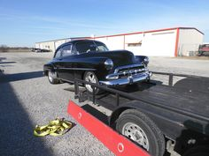 1952 Chevrolet Deluxe - Getting the car loaded up to take back home. We finished up this car and got the steering column all fixed up.