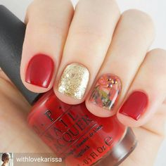 Love the gold accent. @Regrann from @withlovekarissa - @naildramabox is a monthly subscription for nail art with things like charms to stamping plates for $10!  March is Beauty & The Beast themed and if you're as excited as I am about the new movie, you have to check it out. 🌹🌹🌹 I paired the floral nail wraps with these gorgeous multichrome rhinestones. For a totally different look with these same exact items and a look at everything in the March box, check out @polishedjess