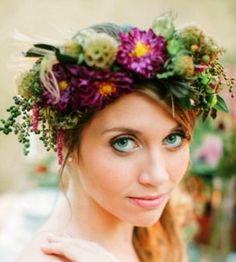 Bride's flower crown