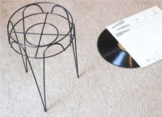 Upcycled Furniture Project: DIY side table from vintage record