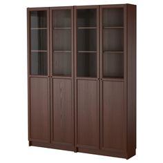 BILLY / OXBERG Bookcase - medium brown - IKEA