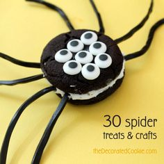 30 spider treats and crafts for Halloween
