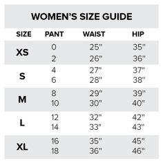 Size Chart  Size Chart