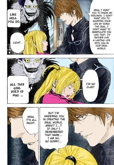 Light and Misa - manga page by tomgirl227.deviantart.com on @DeviantArt