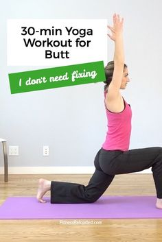 Today we're doing a yoga fusion workout for butt – with a twist. The difference lies in our mindset: Do we want to fix or take care of our bodies?