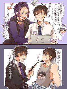 Image about anime in ✨Osomatsu-San✨💖 by ×Fonsi× Otp, Everything And Nothing, Ichimatsu, Fujoshi, Dog Love, Super Cute, Kawaii, Comics, Image