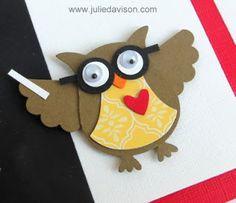Back to School Inspired Card with Stampin' Up! Owl Punch Teacher by Julie Davison http://juliedavison.blogspot.com/2013/09/back-to-school-inspired-owl-punch-art.html