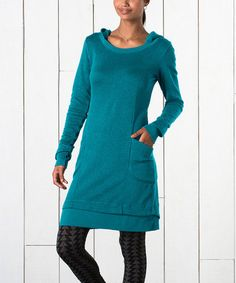 Look what I found on #zulily! Moroccan Blue Overpass Hooded Dress by Horny Toad #zulilyfinds