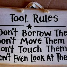 Man law for tools.