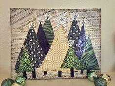 Tree Farm; Christmas Canvas; mixed media; vintage music; holiday decor by TheTrashySister on Etsy https://www.etsy.com/listing/473677284/tree-farm-christmas-canvas-mixed-media