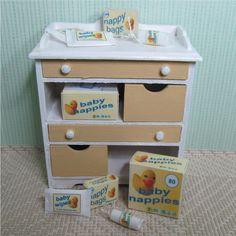 Dolls house miniature baby essentials by MiddlemumsMiniatures, £6.00